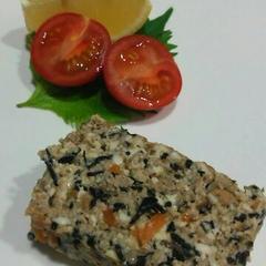 ひじきの煮物と豆腐ミートローフ2種の併せ調理