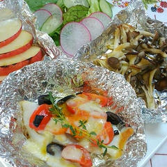 魚焼きグリルで時短かじきトマトチーズグリル他2品