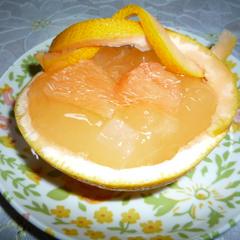 グレープフルーツのジュレ