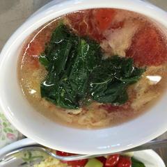 トマトと卵の酸辣湯
