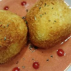 チーズライスボール&濃厚トマトクリームソース