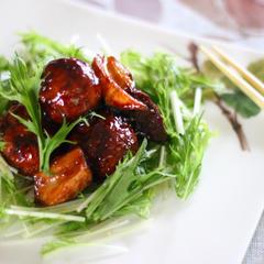 肉団子と鶏レバーのバルサミコ酢あんかけ