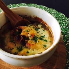 お豆のグラタンスープ