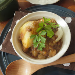 焼きチーズおにぎりの和風ダルーラスープ