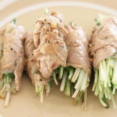 水菜の豚肉巻き ほんのりエスニック風