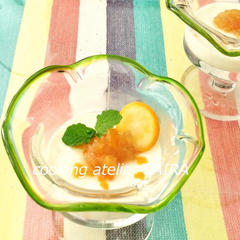 生姜と金柑のとろりんパンナコッタ