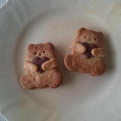 くまさんのチョコレートサンドクッキー