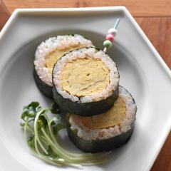 だし巻きたまごde明太巻き寿司☺︎