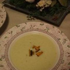 さつまいもと長ネギのスープ