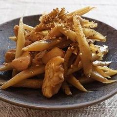 鶏とごぼうの炒め煮