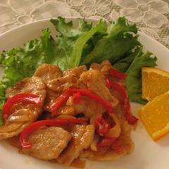 豚肉のオレンジソース煮