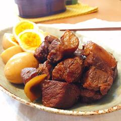 豚肉と卵のあまから煮