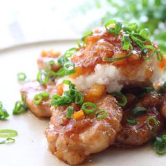 三元豚ヒレ肉の塩麹とマーマレード爽やか甘辛煮