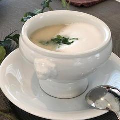 蕪のスープ カプチーノ仕立て