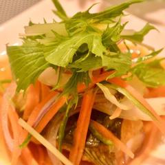 鯖のカレー煮込みサラダ仕立て