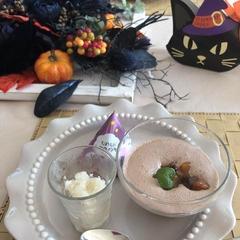 カカオムース柿のコンフィチュール添え(乳不使用)