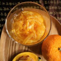 自家製のフレッシュ柚子茶(유자차)