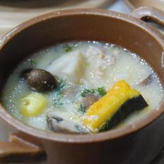カボチャと根菜の豆乳スープ