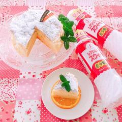 オレンジスフレケーキ♪