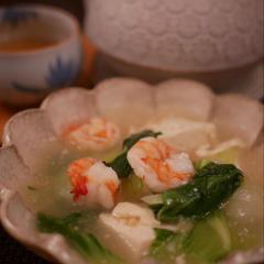 海老と豆腐のレンジ煮