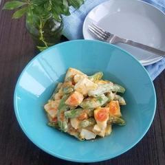 【レシピ】砂糖豌豆と半熟卵のパルメザンサラダ