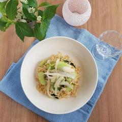 【レシピ】新玉ねぎとタラコの塩焼きそば