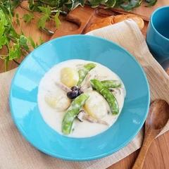 【レシピ】シチューの素不使用!砂糖豌豆のクリーム