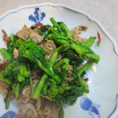 菜の花と豚肉炒め