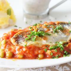 フライパンひとつ❗️鯵のトマト煮