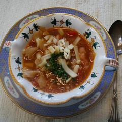 「今日のお昼は・・・2」野菜沢山ミネストローネ