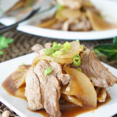 フライパンひとつ❗️豚バラと大根の炒め物