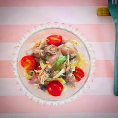 ホタルイカと新玉ねぎのサラダ