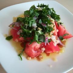 5分で出来る 夏にさっぱり! トマトのサラダ