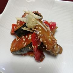 鮮魚と南瓜の黒酢あん