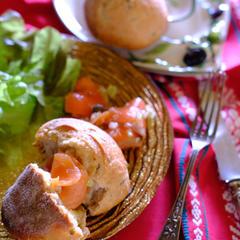 パンと食べたい、スモークサーモンのマリネ