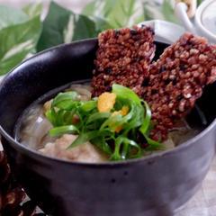白菜と雑穀米のおこげスープ