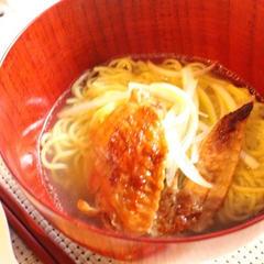 イチからスープを作る 鶏照り焼き塩ラーメン