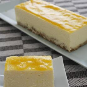 マンゴーのレアチーズケーキ