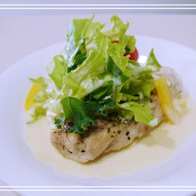 【お魚:メカジキ】白ワイン蒸~豆乳ソース