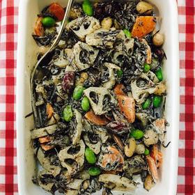 豆と根菜の和風サラダ