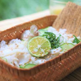 一夜干しの焼き魚と夏の混ぜご飯