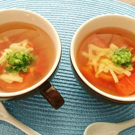 トマトとチーズのイタリアンすまし汁