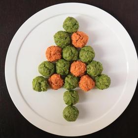 抗酸化に 緑色クリスマスカラーの薬膳マフィン