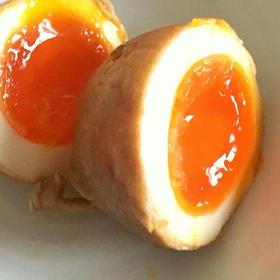 肉巻き半熟卵