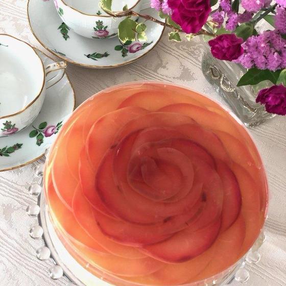 お菓子レッスン「リンゴとキャラメルムースのケーキ」