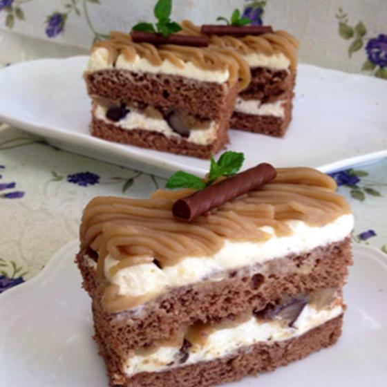 和栗のマロンケーキ