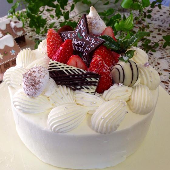 クリスマスのケーキ(クリスマスに食べられますケーキ教室)