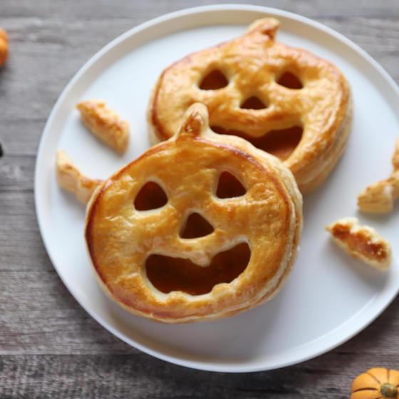 秋のイベントハロウィン、かぼちゃのお菓子2品