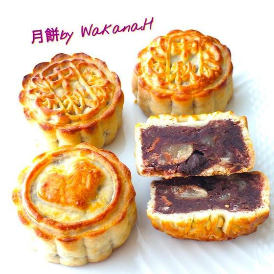 栗レーズン月餅(型はお好きなものをお選び頂けます)