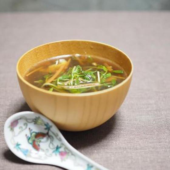 凍み豆腐の酸辛湯